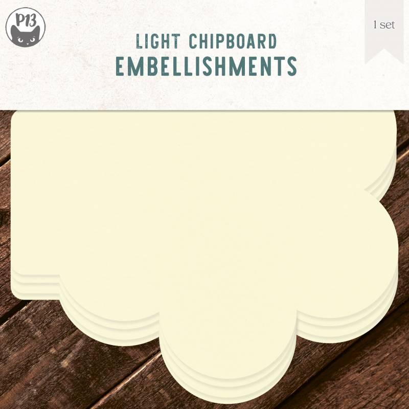 """Light chipboard album base Floweret, 6x6"""", 4pcs"""