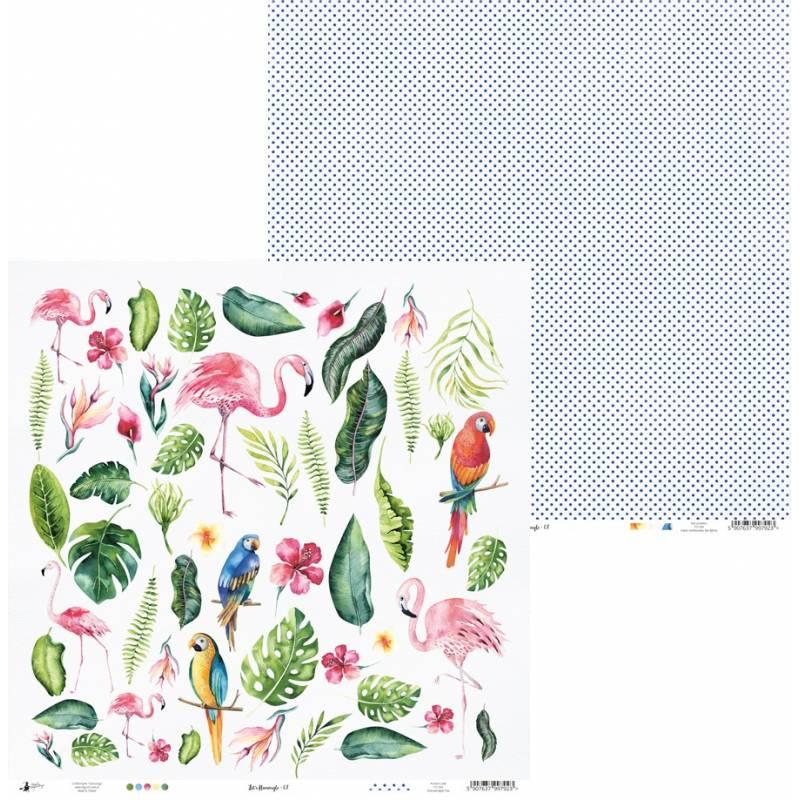 """Papier Let's flamingle 07, 12x12"""""""
