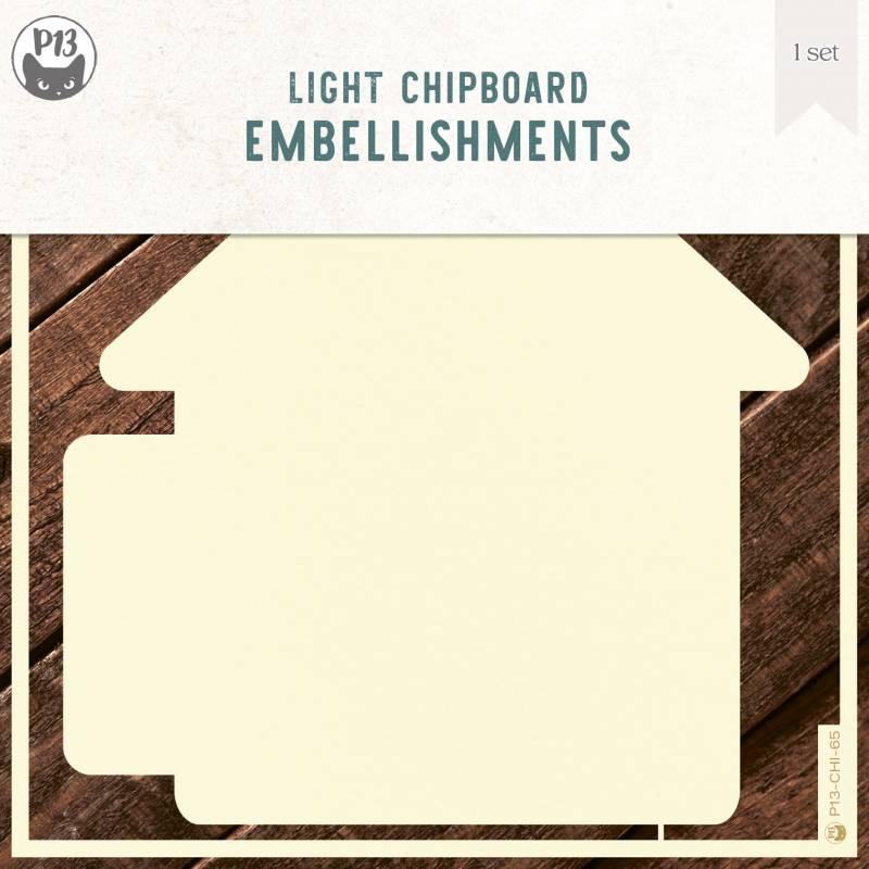 "Light chipboard album base House 02 - refill, 6x8"", 3pcs"