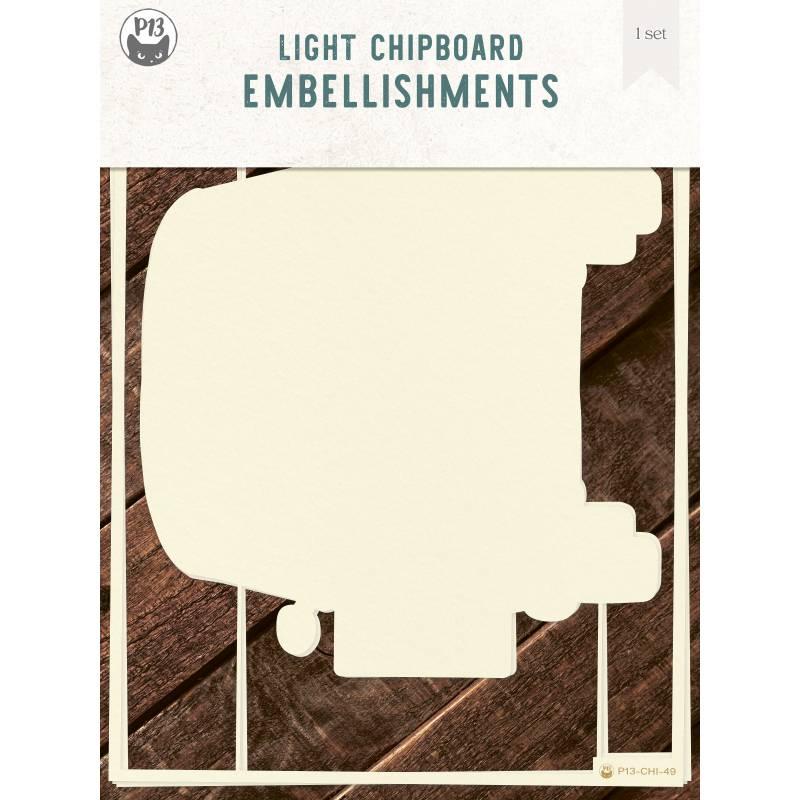"Light chipboard album base Camper - refill, 6x8"", 3pcs"