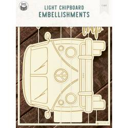 "Light chipboard album base Camper, 6x8"", 1set"