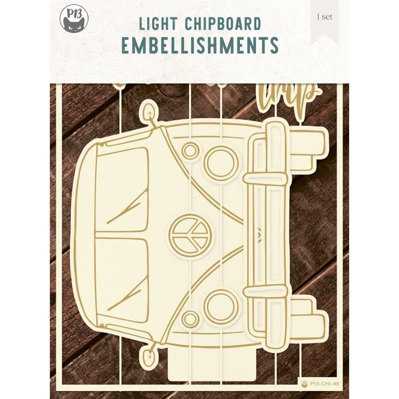 """Light chipboard album base Camper, 6x8"""", 1set"""