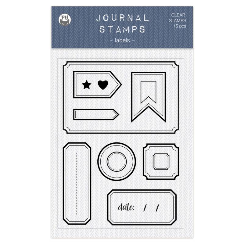 Clear stamp set Labels 01 A6, 15pcs