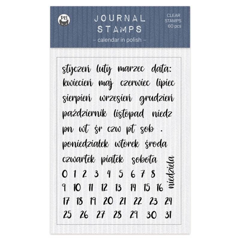 Zestaw stempli Kalendarz PL 01 A6, 60szt.