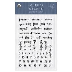 Clear stamp set Calendar ENG 01 A6, 62pcs