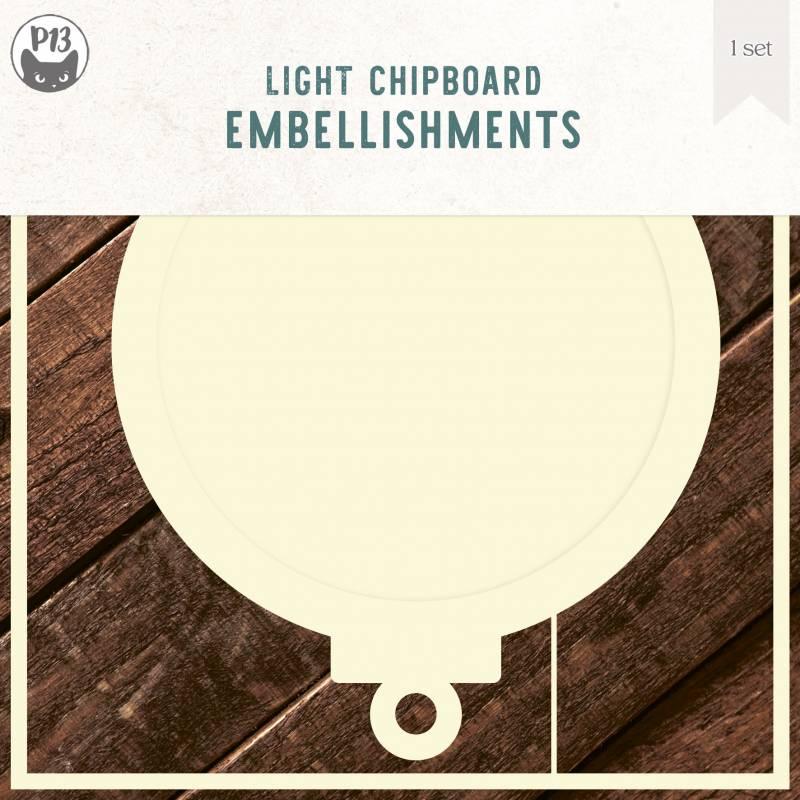 "Light chipboard deco base Bauble, 6x6"", 1set"