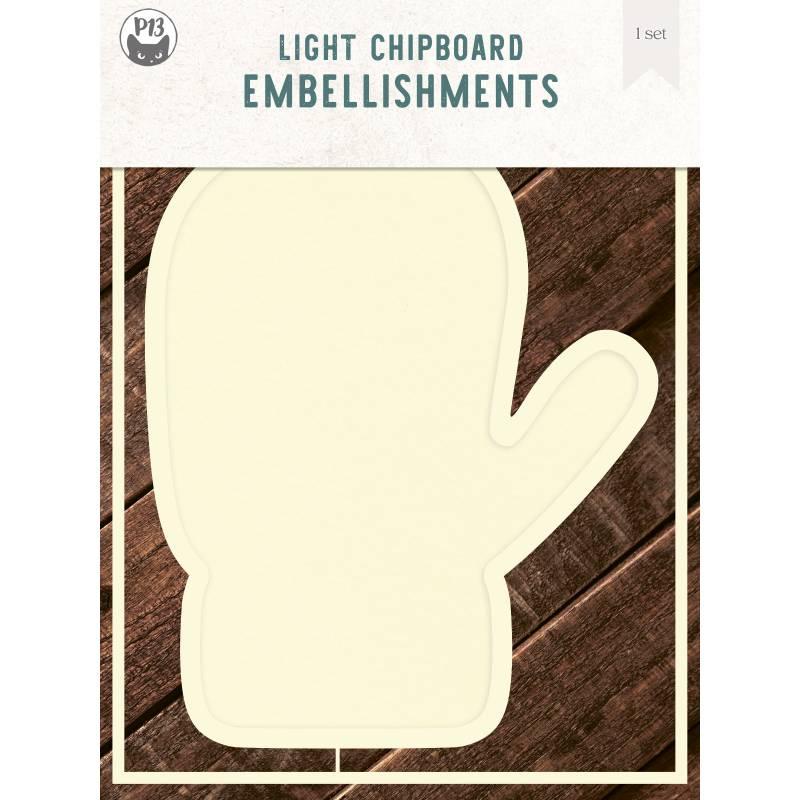 "Light chipboard deco base Glove, 6x8"", 1set"