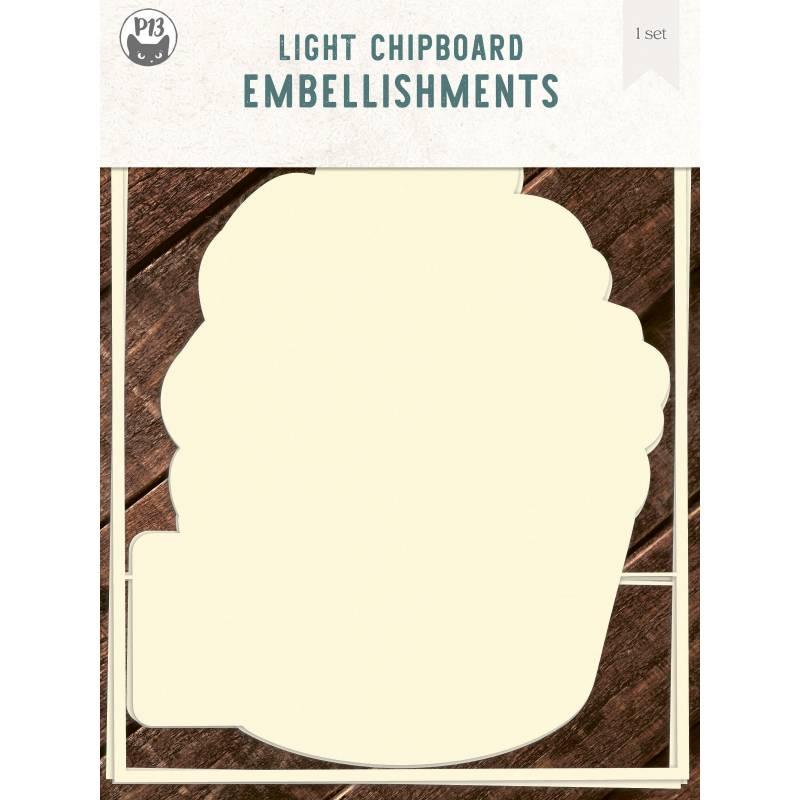"Light chipboard album base Cupcake - refill, 6x8"", 3pcs"