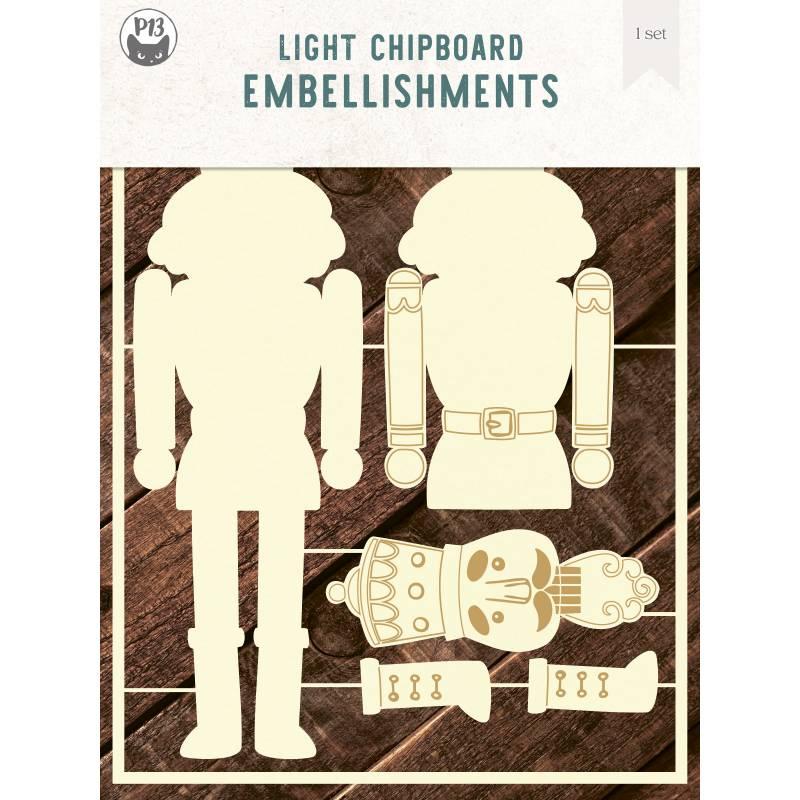 "Light chipboard embellishments Nutcracker, 6x8"", 1spc"