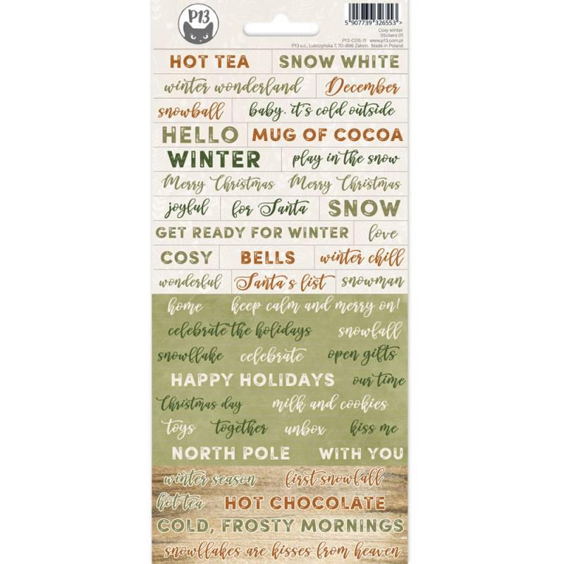 Sticker sheet Cosy Winter 01,10,5 x 23 cm