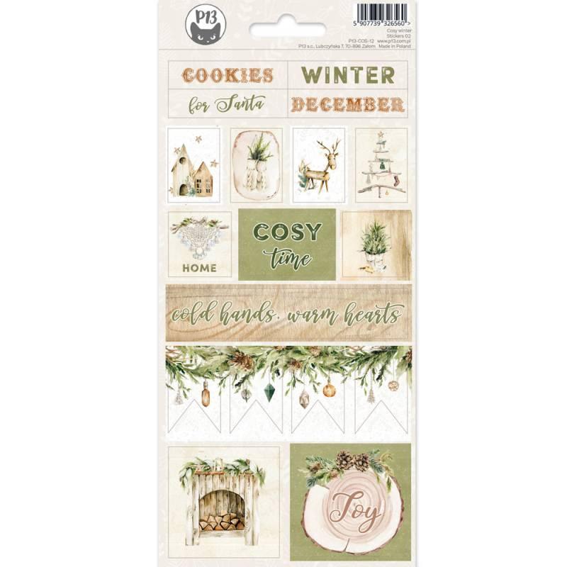 Sticker sheet Cosy Winter 02,10,5 x 23 cm