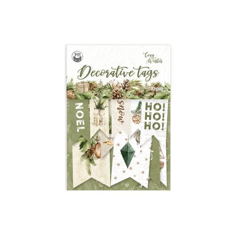 Decorative tags Cosy Winter 02, 10szt.