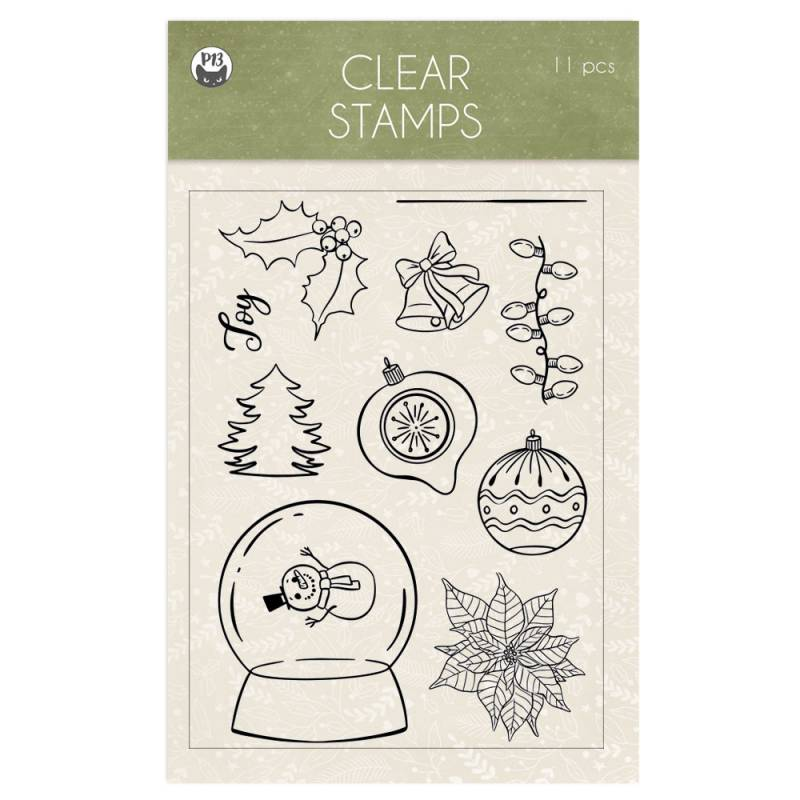 Clear stamp set Cosy Winter 01 A6, 11szt.