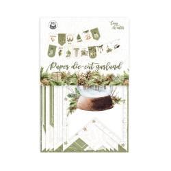Paper die cut garland Cosy Winter, 15pcs.