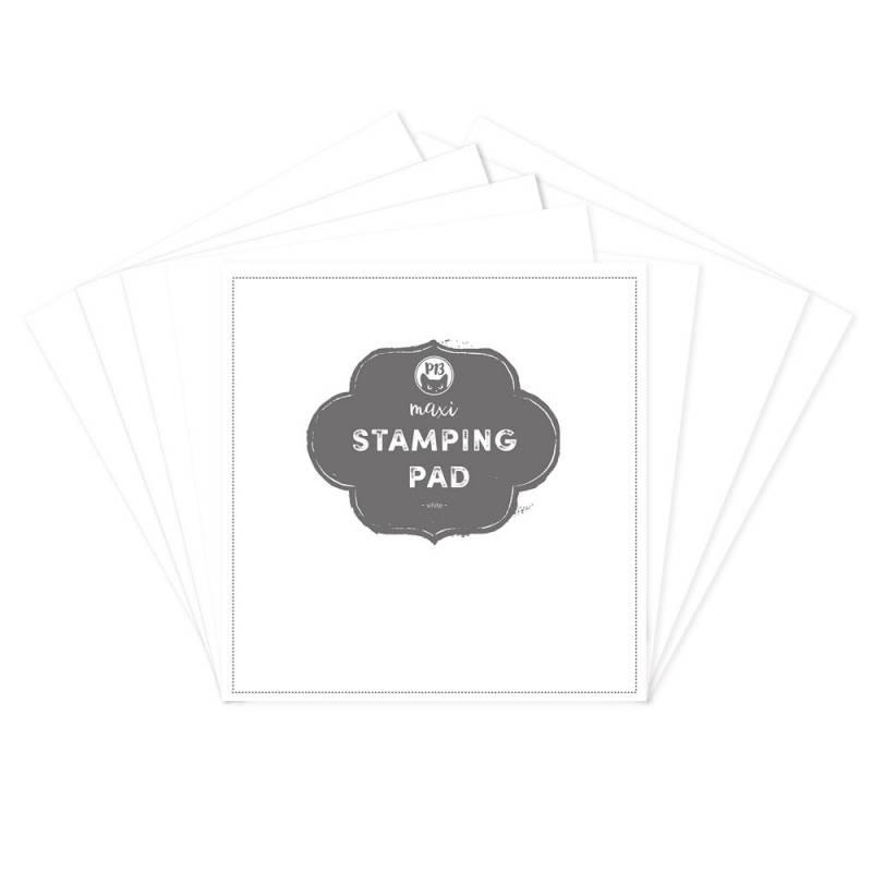 "Maxi Stamping Pad - White, 12X12"""