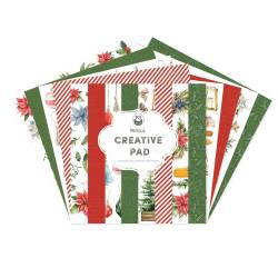 Maxi Creative Pad Cosy Winter - Red and Green, 12x12''