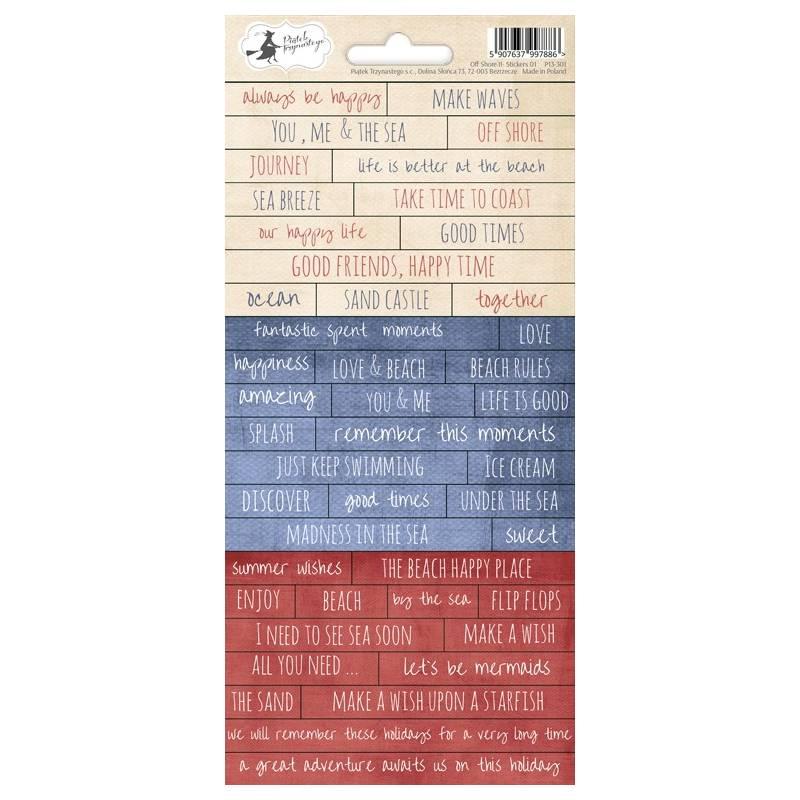 Sticker sheet Off Shore II 01, 10,5 x 23cm