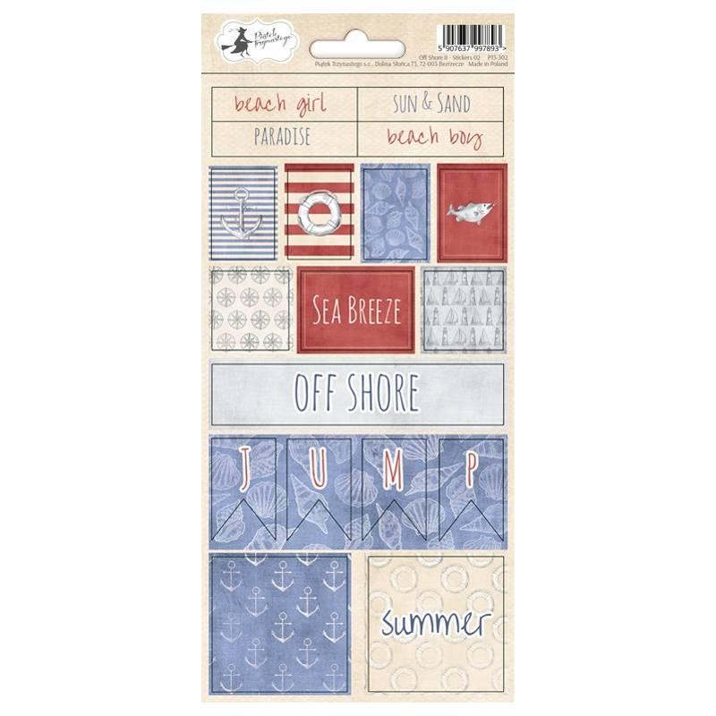 Sticker sheet Off Shore II 02, 10,5 x 23cm