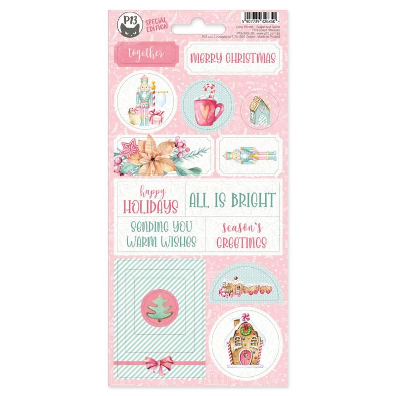 Chipboard sticker sheet Sugar and Spice 02, 10,5x22cm