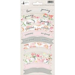 Party sticker sheet Love in Bloom 01, 10,5 x 23cm