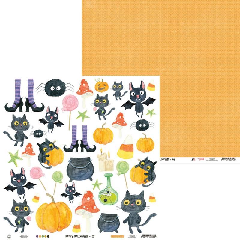 """Paper Happy Halloween 02, 12x12"""""""