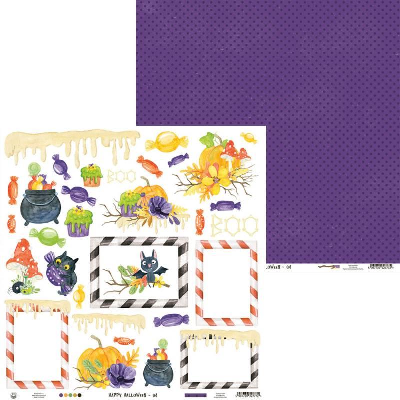 """Paper Happy Halloween 04, 12x12"""""""
