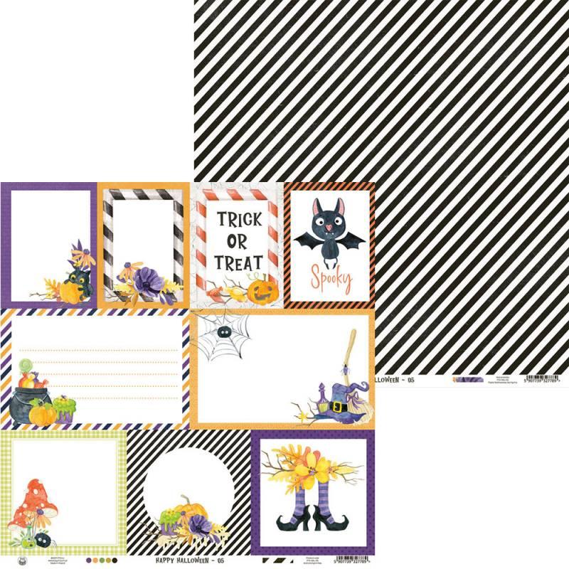 """Paper Happy Halloween 05, 12x12"""""""