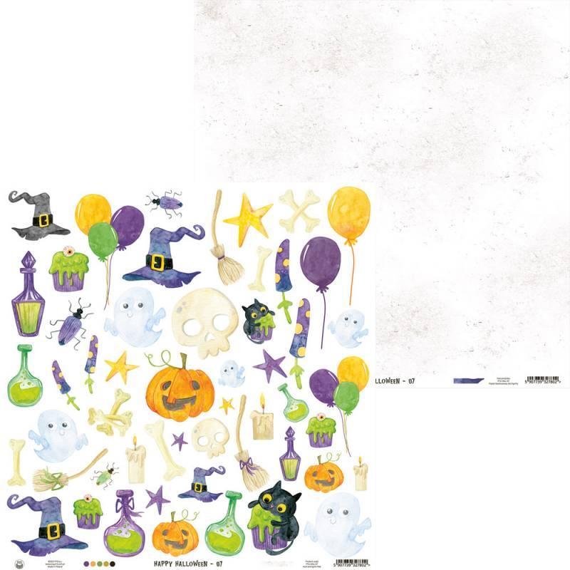 """Paper Happy Halloween 07, 12x12"""""""