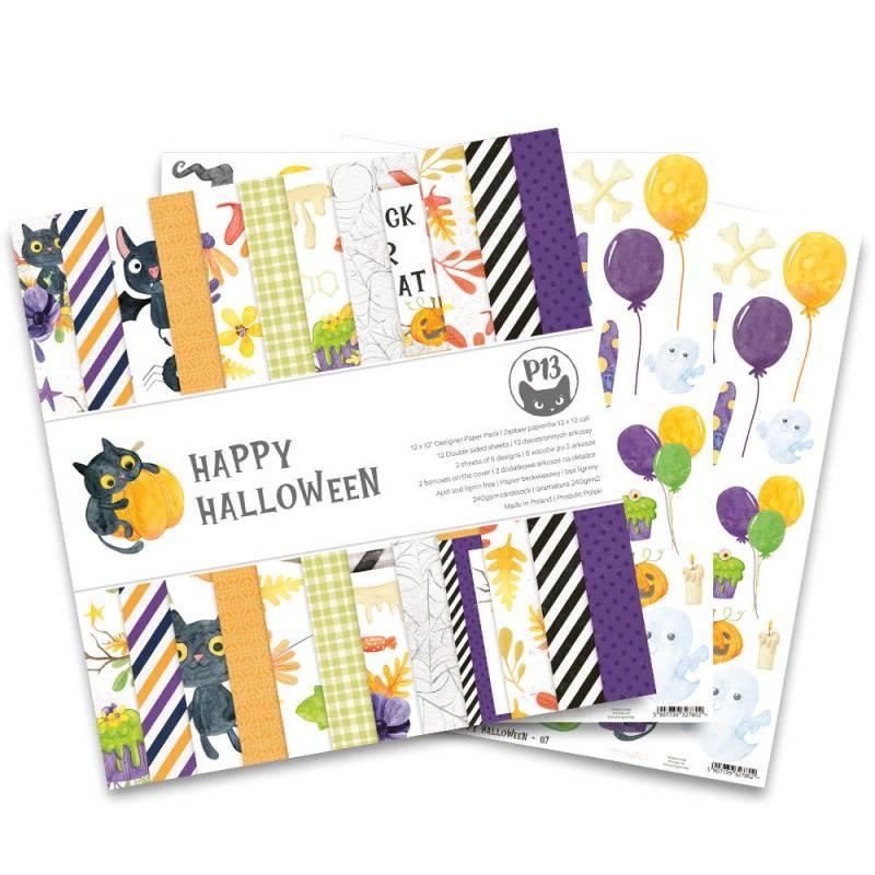 "Paper pad Happy Halloween, 12x12"""