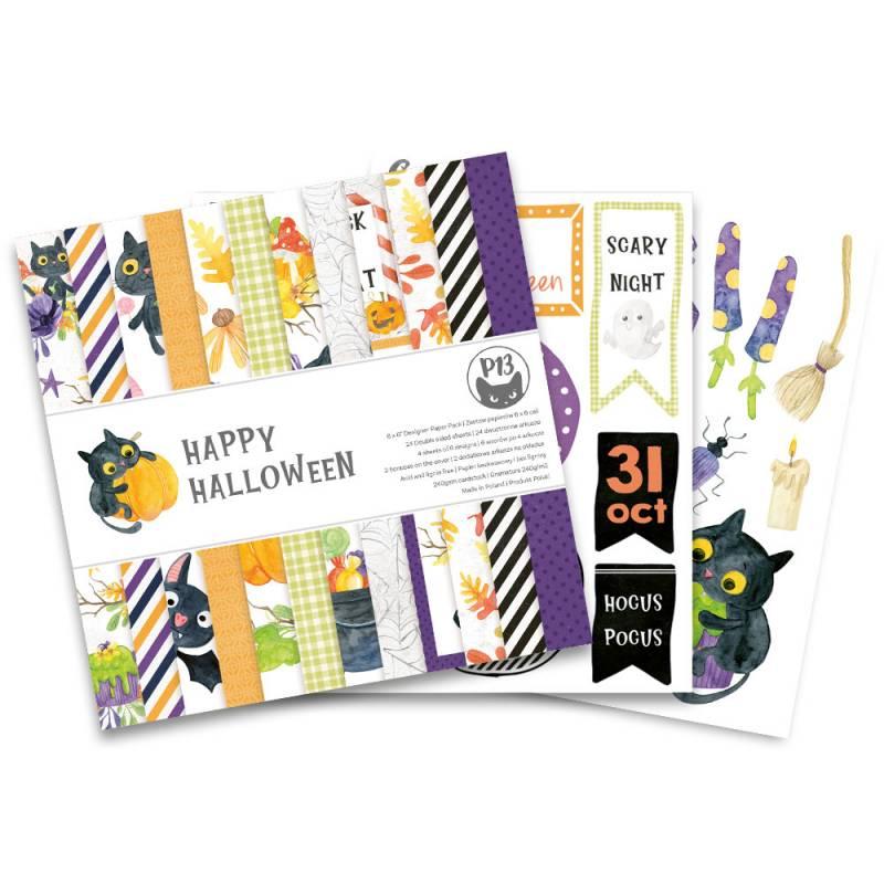 "Paper pad Happy Halloween, 6x6"""