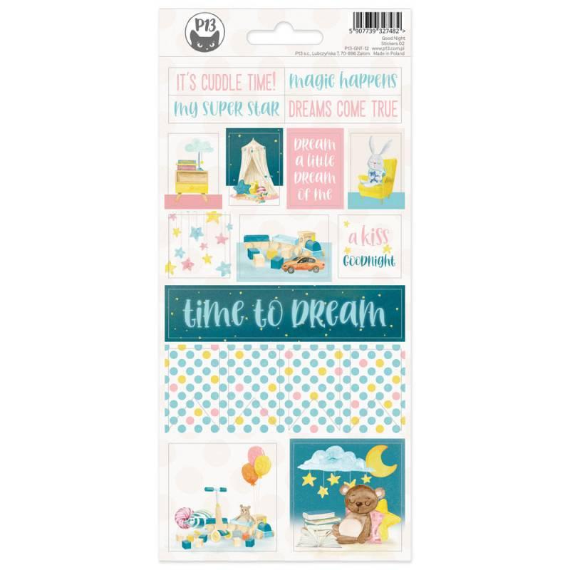 Sticker sheet Good Night 02,10,5 x 23 cm