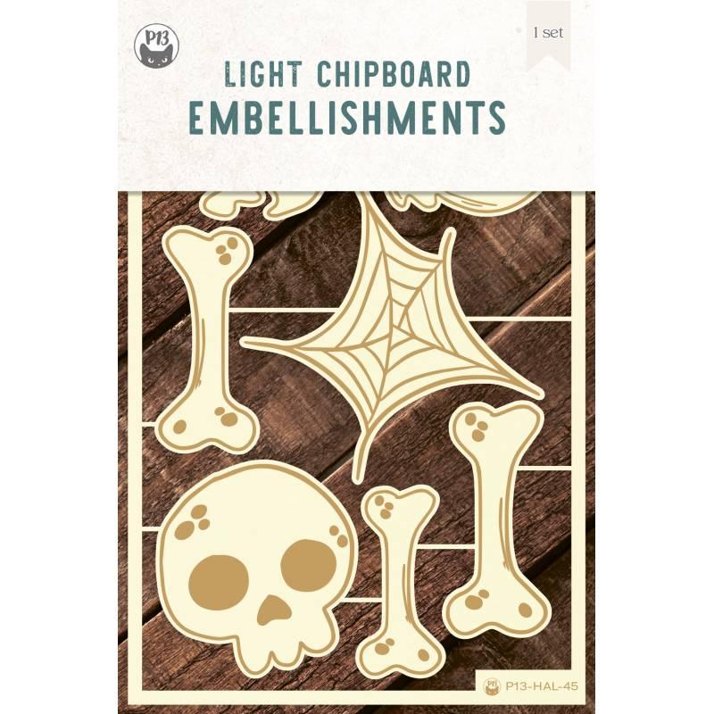 Light chipboard embellishments Happy Halloween 02, 7pcs