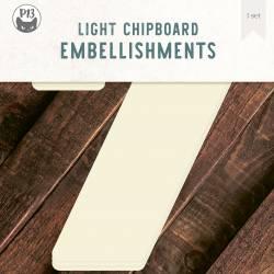 "Light chipboard deco base Numbers - 7, 8x8"", 3pcs"