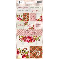 Sticker sheet Rosy Cosy Christmas 02, 10,5 x 23cm