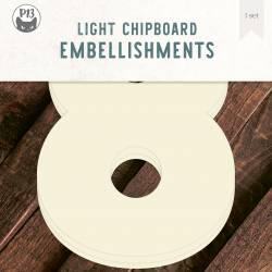 "Light chipboard deco base Numbers - 8, 8x8"", 3pcs"
