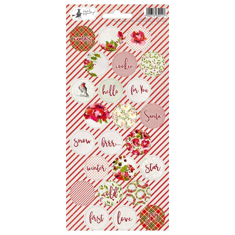 Sticker sheet Rosy Cosy Christmas 01, 10,5 x 23cm