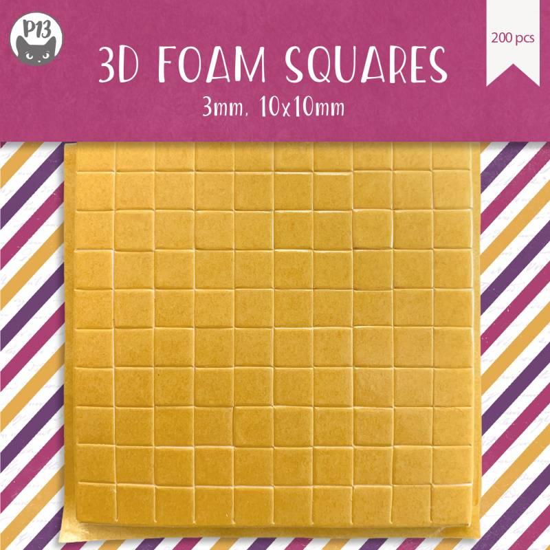 Foam 3D stickers, 3mm, 200pcs