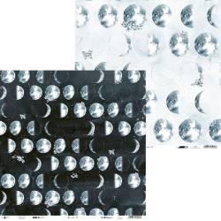 """Paper New moon 01, 12x12"""""""