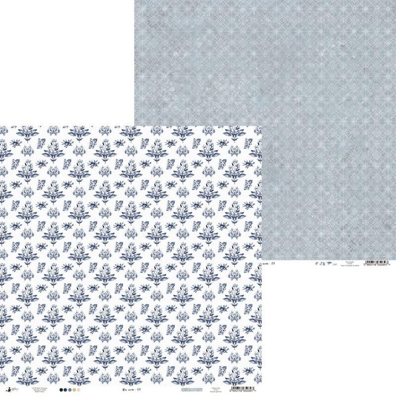 """Paper New moon 04, 12x12"""""""