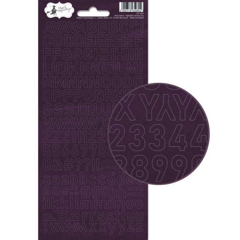 Alphabet sticker sheet New moon 02, 10,5 x 23cm