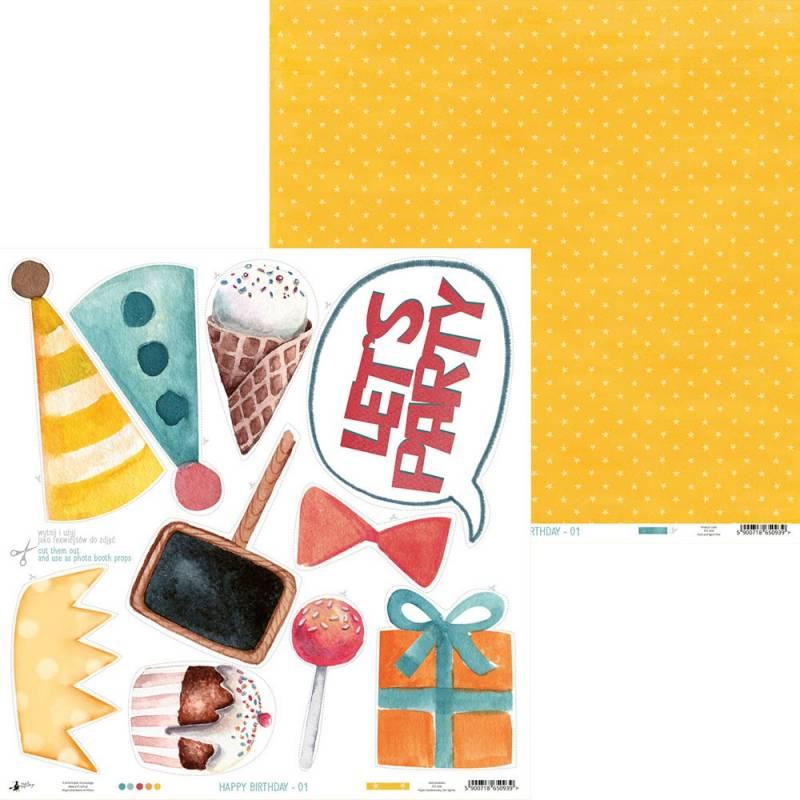 """Paper Happy Birthday 01, 12x12"""""""