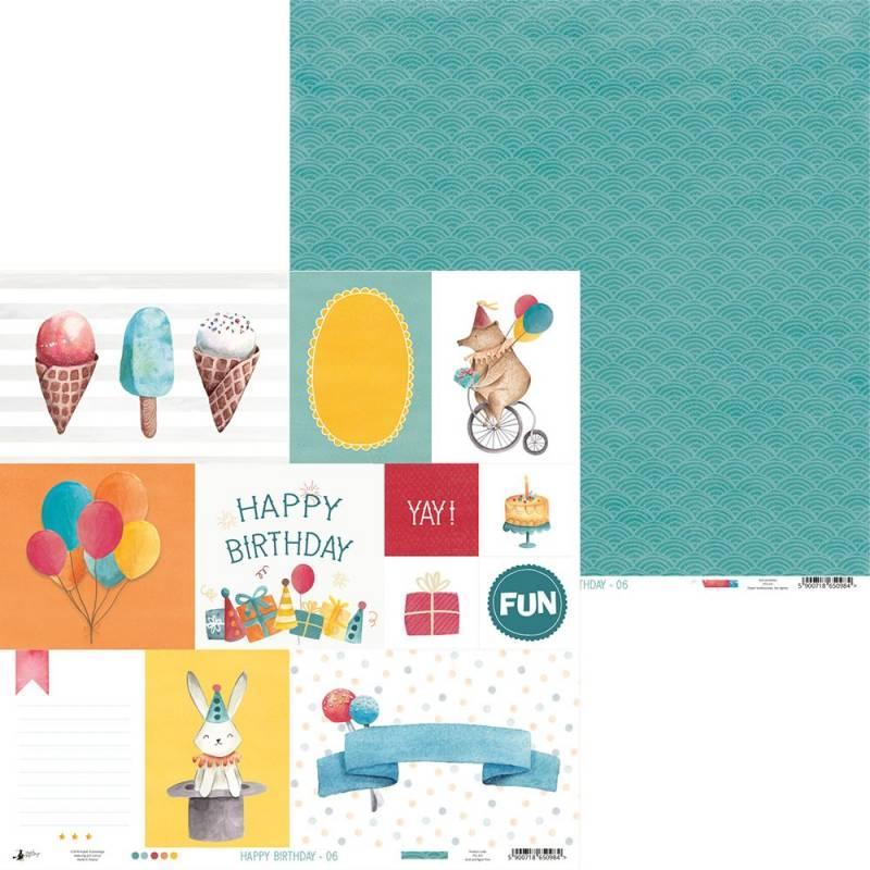 """Paper Happy Birthday 06, 12x12"""""""