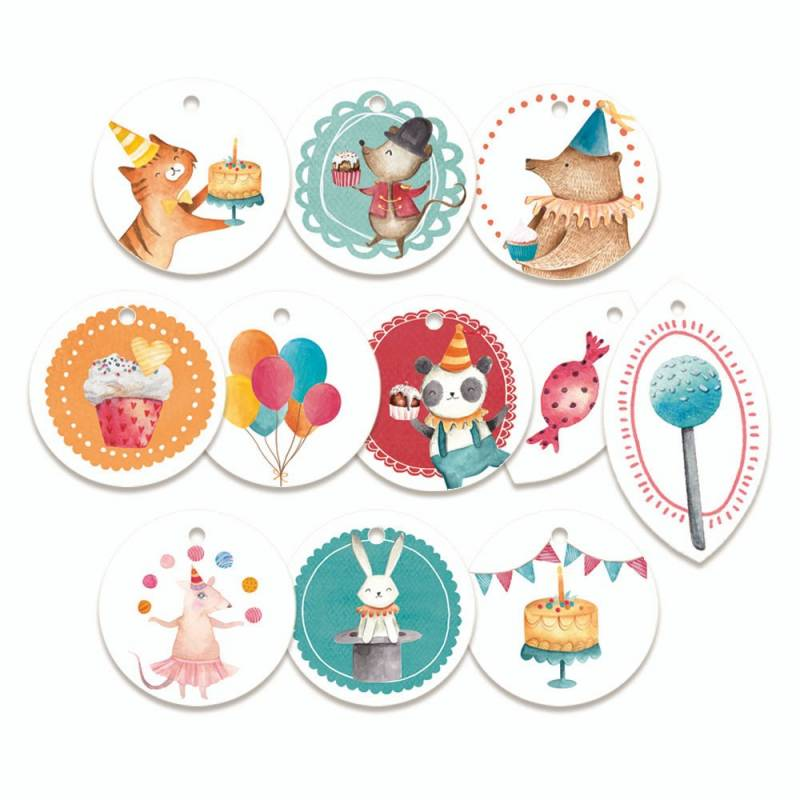 Decorative Tags Happy Birthday 01