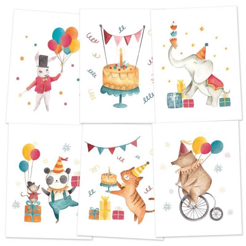 MiniPoster set Happy Birthday, 15 x 20cm