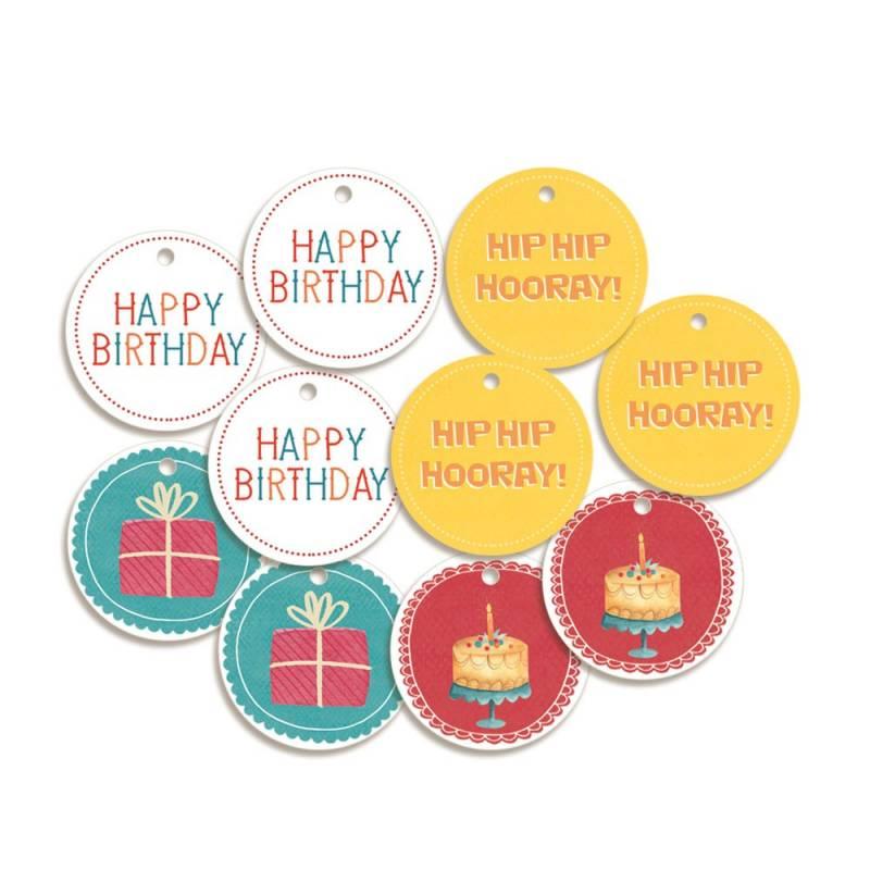 Decorative Tags Happy Birthday 04