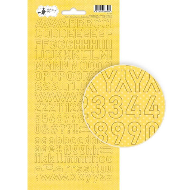 Alphabet sticker sheet Happy Birthday 02, 10,5 x 23cm
