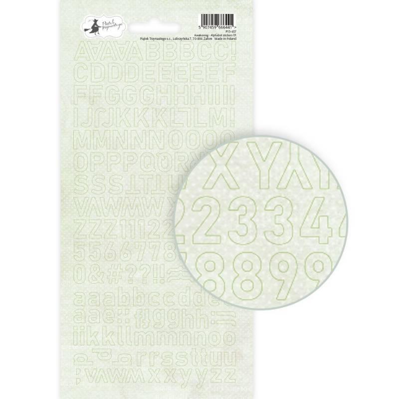 Alphabet sticker sheet Awakening 01, 10,5 x 23cm