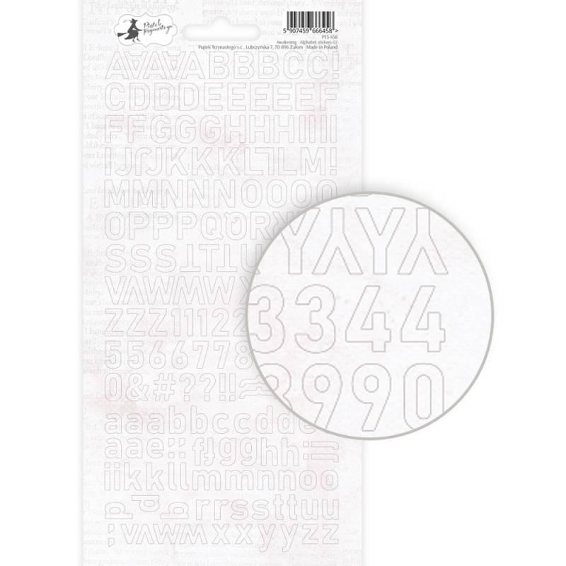 Arkusz naklejek z literkami Awakening 02, 10,5 x 23cm