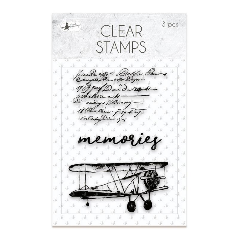 Clear stamp set When we first met 01, 3 pcs.