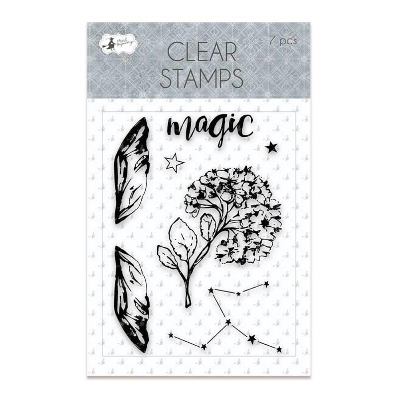 Clear stamp set New moon 01, 7 pcs.